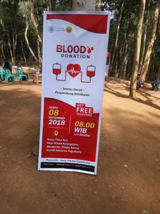 Donor Darah di Kawasan Wisata Pinus Asri