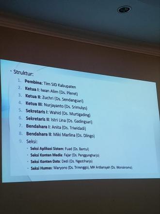 Pembentukan Forum SID Kabupaten Bantul