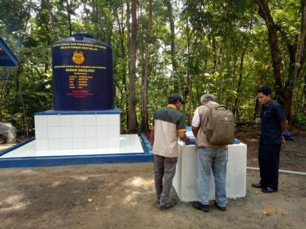 Pengecekan Fisik Bantuan Sumur Bor Oleh Geologi di Dusun Gunung Cilik
