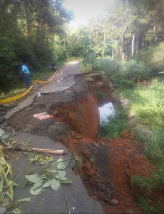 Pergeseran Tanah setelah guyuran Hujan