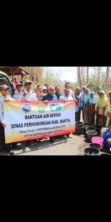 Bantuan Air Bersih di dusun seropan II